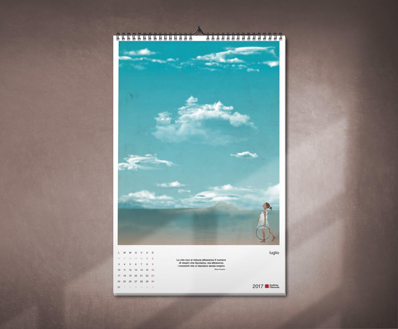 Calendario 31 Luglio.Calendario Da Parete Maurizio Faleschini